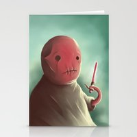 Cuter than master Yoda Stationery Cards