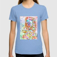 City Of Glass Womens Fitted Tee Tri-Blue SMALL