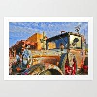 Old Trucks Never Die Art Print