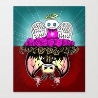 Angel And Demon RonkyTon… Canvas Print