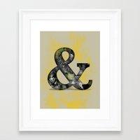 Ampersand Series - Baske… Framed Art Print