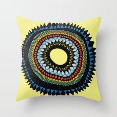 Patterned Sun II Throw Pillow