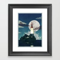 Tracy Island Framed Art Print