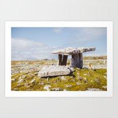 Poulnabrone Dolmen, Clare, Ireland Art Print