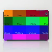 Blue, Pink, Yellow, Green  iPad Case