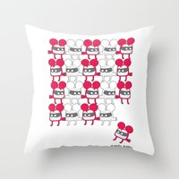 I was looking back to see, if you were looking back at me, to see me looking back at you. Throw Pillow