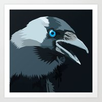 Corvus Monedula Has A St… Art Print