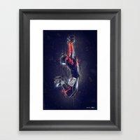 DARK FOOTBALL Framed Art Print