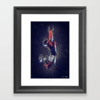 DARK FOOTBALL Framed Art Print