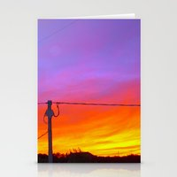 Sunset From My House Stationery Cards