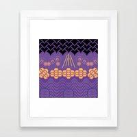 HARMONY Pattern Alt 3 Framed Art Print