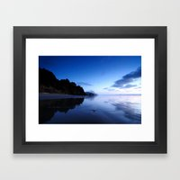 Oregon Beach At Sunset Framed Art Print