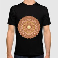 Kaleidoscopic-Canyon colorway Mens Fitted Tee Black SMALL