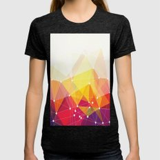 Abstract colorful triangle pattern Womens Fitted Tee Tri-Black SMALL