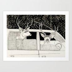 Nella Foresta Art Print