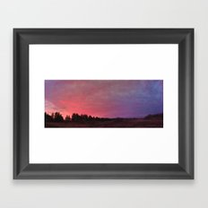 prairie sunrise Framed Art Print