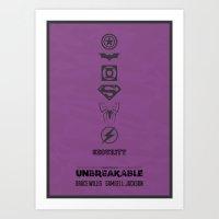 Unbreakable - minimal poster Art Print