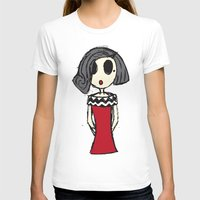 Audrey Womens Fitted Tee White SMALL