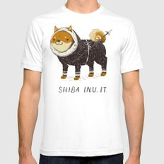 shiba inu-it Mens Fitted Tee White SMALL