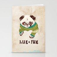 Hug A Pug Stationery Cards