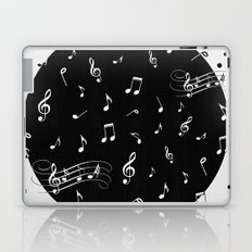 Music White and Black Laptop & iPad Skin