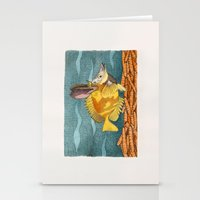 Foxface rabbit fish Stationery Cards