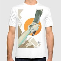 SERVITUDE Mens Fitted Tee White SMALL