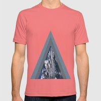 peaks Mens Fitted Tee Pomegranate SMALL