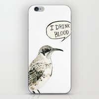 I Drink Blood iPhone & iPod Skin