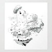 Dying Giants - Travel Art Print