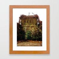 Nature finds the way inside... Framed Art Print