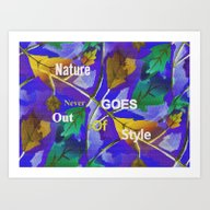 Art Print featuring Stylish Nature by Kathleen Sartoris