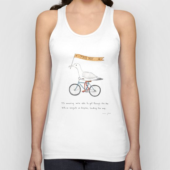 seagulls on bicycles Unisex Tank Top