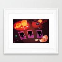 Voodoo Table Framed Art Print
