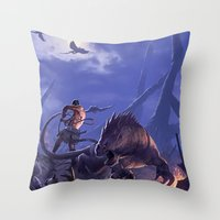 THE BEASTMASTER Throw Pillow