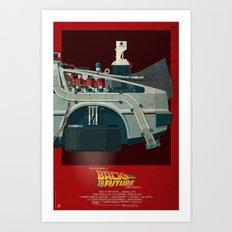 DeLorean Time Machine, Back to the Future Version 3 III/III Art Print