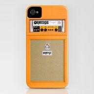 iPhone & iPod Case featuring Retro Orange Guitar Elec… by Three Second