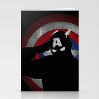 SuperHeroes Shadows : Captain America Stationery Cards