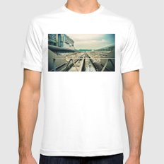 Train station White SMALL Mens Fitted Tee