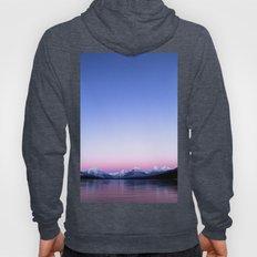 pastel mountain lake sunset Hoody
