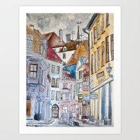 Sketchy City Art Print