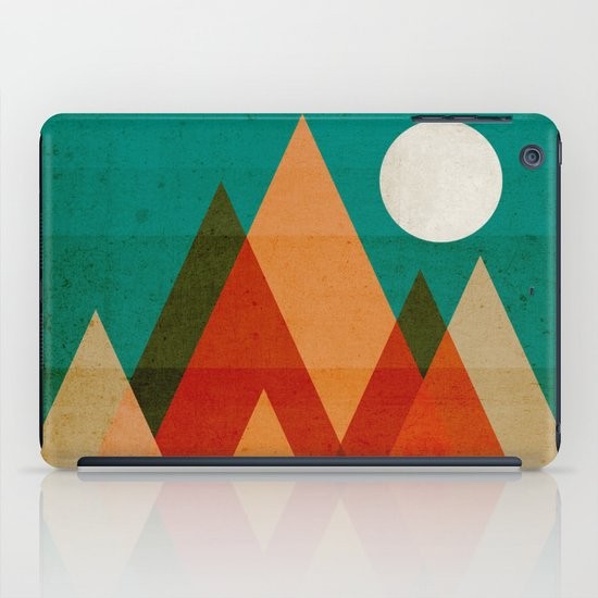 Full moon over Sahara desert iPad Case