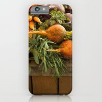 iPhone & iPod Case featuring Mixed Organic Vegetables With Tomatoes Beets & Carrots In Wood Box by diane555