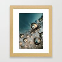 Royal Sea Blue Drops II Framed Art Print