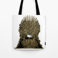 Game On Throne Tote Bag