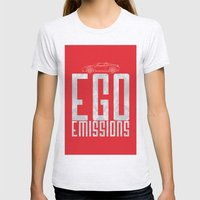 Tesla - Ego Emissions Womens Fitted Tee Ash Grey SMALL