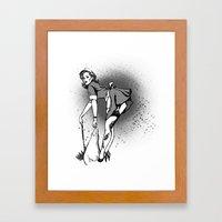 Sweeping you under Framed Art Print
