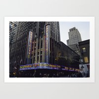 Radio City Music Hall. Art Print