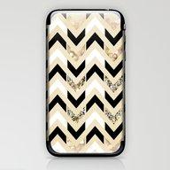 Black, White & Gold Glit… iPhone & iPod Skin