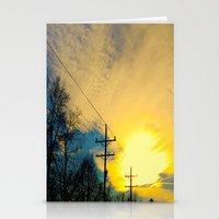 Telephone Trees Stationery Cards